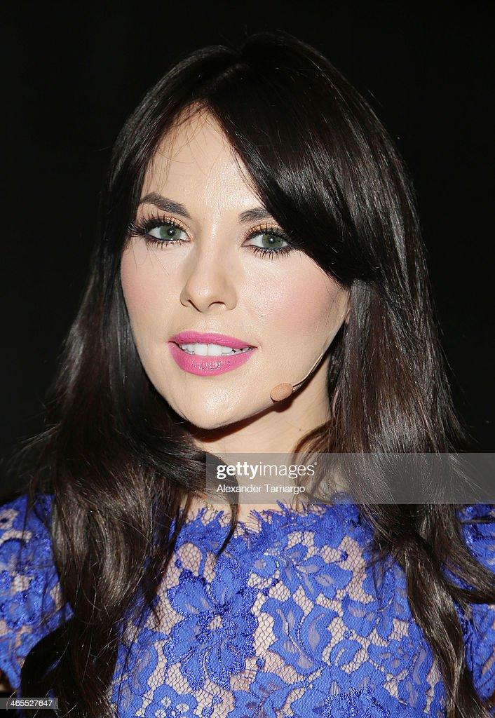 Vanessa Villela attends Telemundo Luncheon to launch 'Camelia Le Texana' during NATPE at Eden Roc Hotel on January 27 2014 in Miami Beach Florida