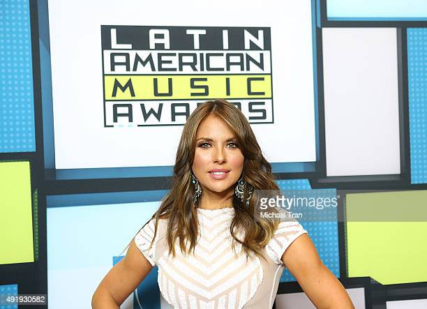 Vanessa Villela poses at the Latin American Music Awards 2015 held at Dolby Theatre on October 8 2015 in Hollywood California