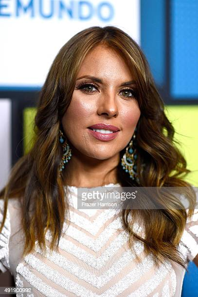 Vanessa Villela poses in the press room during Telemundo's Latin American Music Awards at the Dolby Theatre on October 8 2015 in Hollywood California