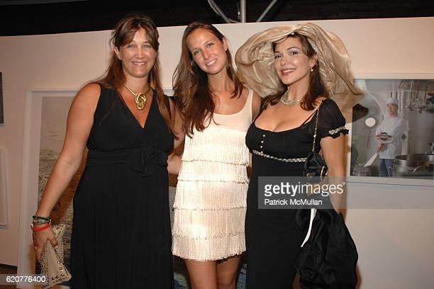 Vanessa von Bismarck Weiner Misha Nonoo and Laura Herring attend The 15th Annual WATERMILL Summer Benefit at The Watermill Center on July 26 2008 in...