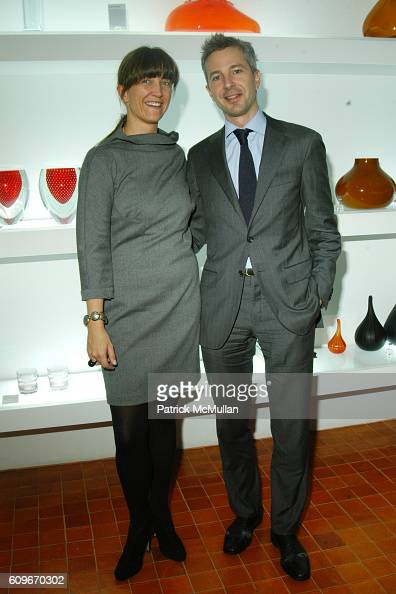 Vanessa Weiner von Bismarck and Frederic Briere attend NEW YORKERS FOR CHILDREN SALVIATI CHARITY BENEFIT at Salviati on December 13 2007 in New York...