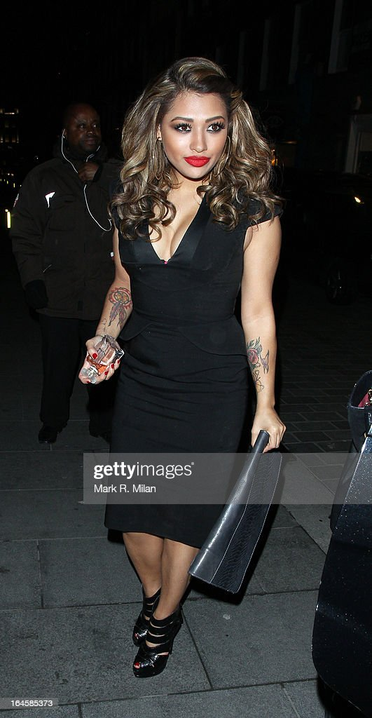 Vanessa White at Amika night club on March 24, 2013 in London, England.