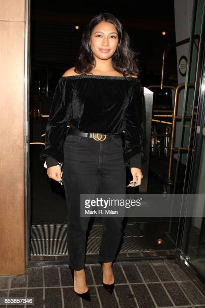 Vanessa White attending the W7 end of summer glow out party on September 25 2017 in London England