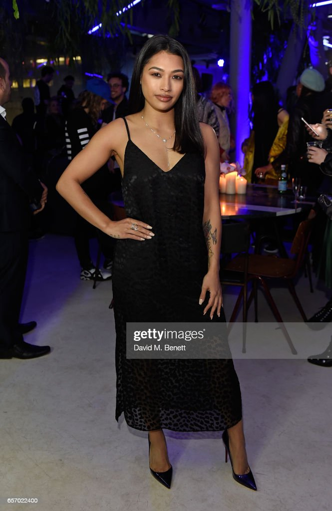 Vanessa White attends the Mercedes-Benz #mbcollective launch party with M.I.A & Tommy Genesis at 180 The Strand on March 23, 2017 in London, England.