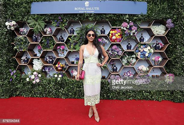 Vanessa White attends the Royal Salute Coronation Cup at Guards Polo Club on July 23 2016 in Egham England