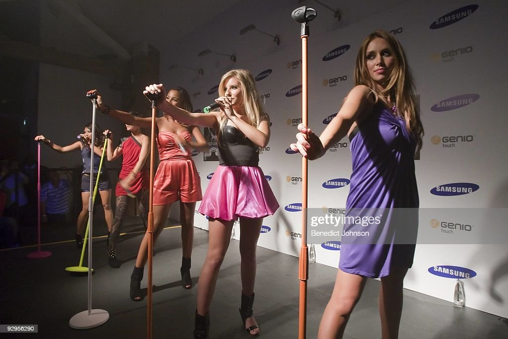 Vanessa White Frankie Sandford Rochelle Wisesman Mollie King and Una Healy of the Saturdays perform on stage at The Proud Gallery on September 14th...