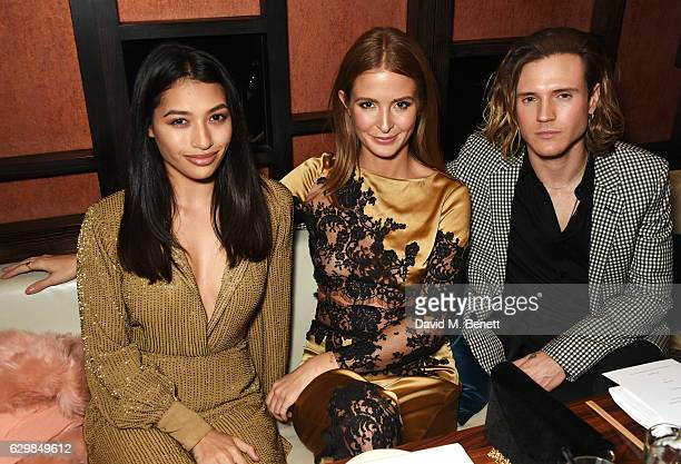 Vanessa White Millie Mackintosh and Dougie Poynter attend a VIP dinner to celebrate the launch of the Wonderland winter issue at Bo Lang on December...