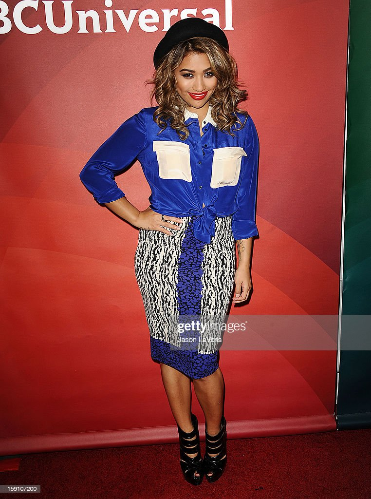 Vanessa White of The Saturdays attends the 2013 NBC TCA Winter Press Tour at The Langham Huntington Hotel and Spa on January 7, 2013 in Pasadena, California.