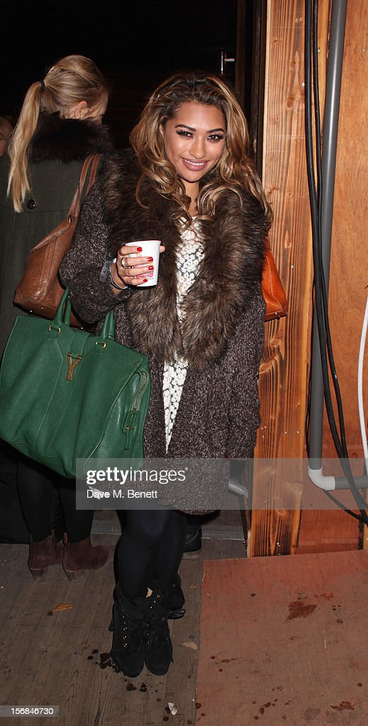 Vanessa White of the Saturdays attends the Winter Wonderland - Launch Party in Hyde Park on November 22, 2012 in London. England.