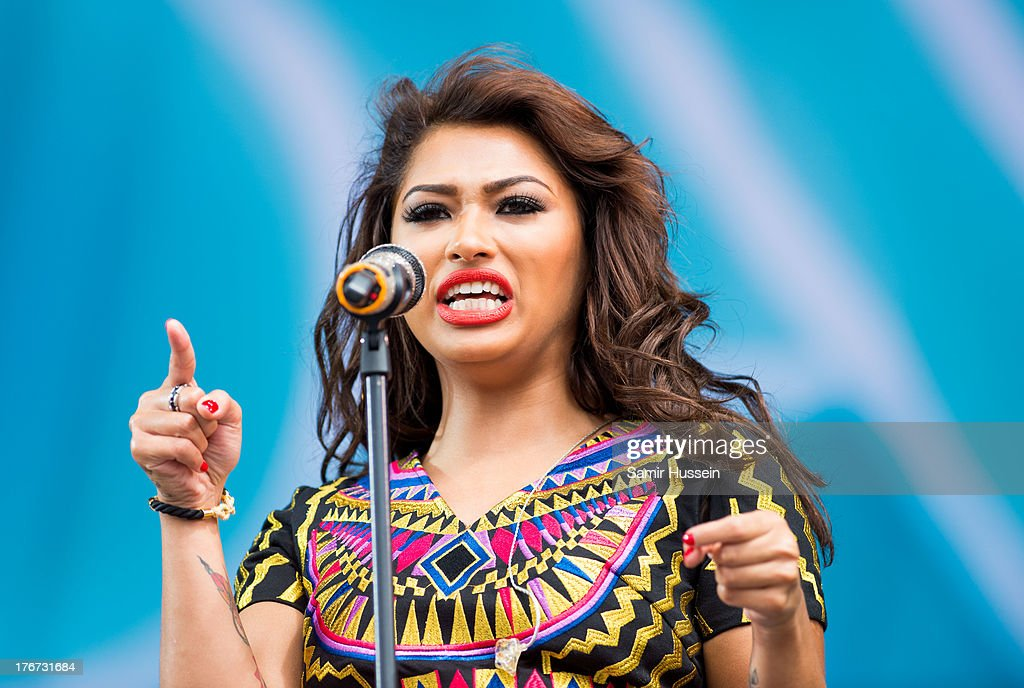 Vanessa White of The Saturdays performs live on the Virgin Media Stage on day 2 of V Festival at Hylands Park on August 18, 2013 in Chelmsford, England.