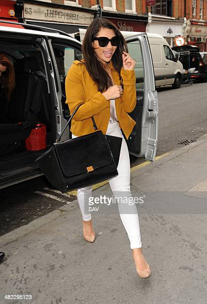 Vanessa White of The Saturdays spotted on April 3 2014 in London England