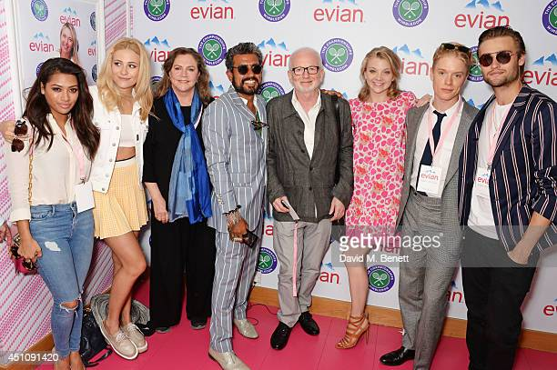 Vanessa White Pixie Lott Kathleen Turner Azim Majid Ian McDiarmid Natalie Dormer Freddie Fox and Douglas Booth attend the evian Live Young suite on...