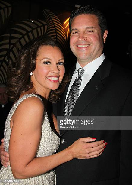 Vanessa Williams and boyfriend Jim Skrip attend the after party for the Broadway opening night of 'The Trip To Bountiful' at The Copacabana on April...