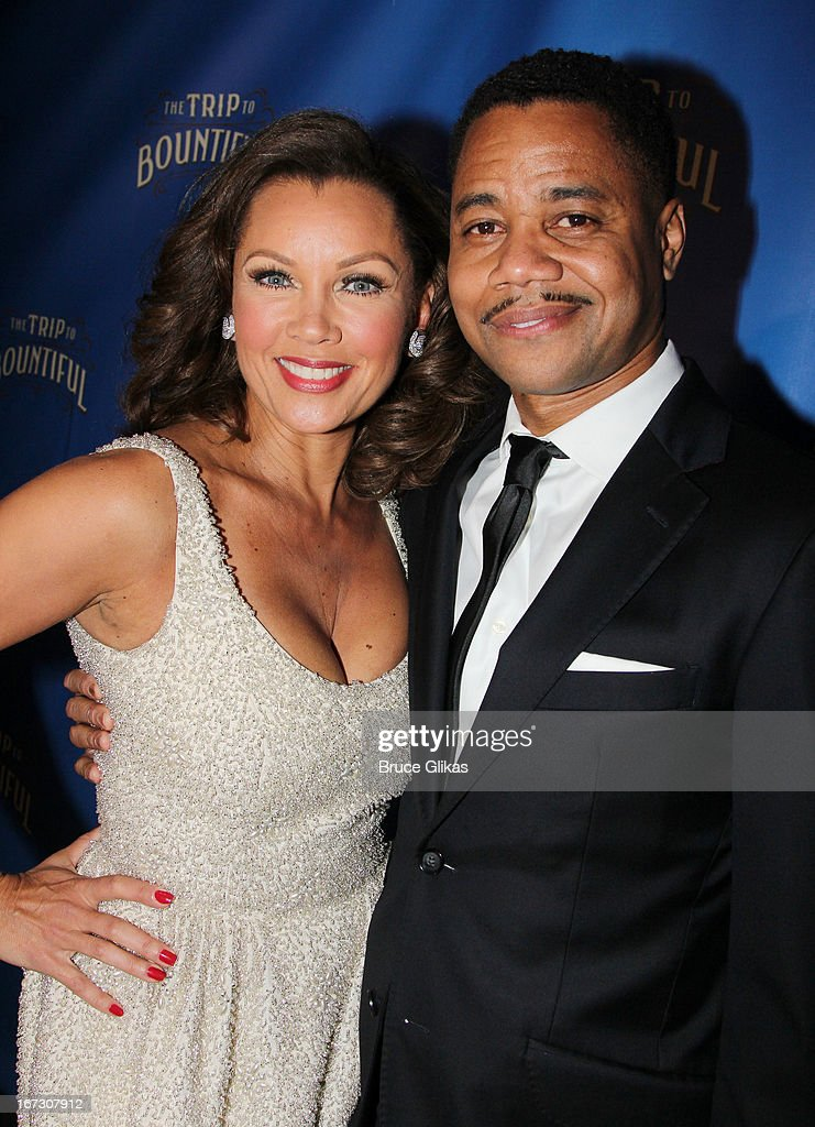 Vanessa Williams and Cuba Gooding Jr attend the after party for the Broadway opening night of 'The Trip To Bountiful' at The Copacabana on April 23, 2013 in New York City.