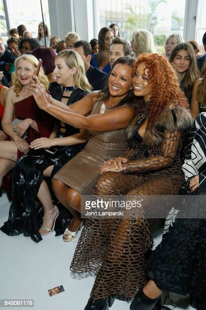 Vanessa Williams and Jillian Harvey attends the Christian Siriano collection during the September 2017 New York Fashion Week The Shows at Pier 59 on...