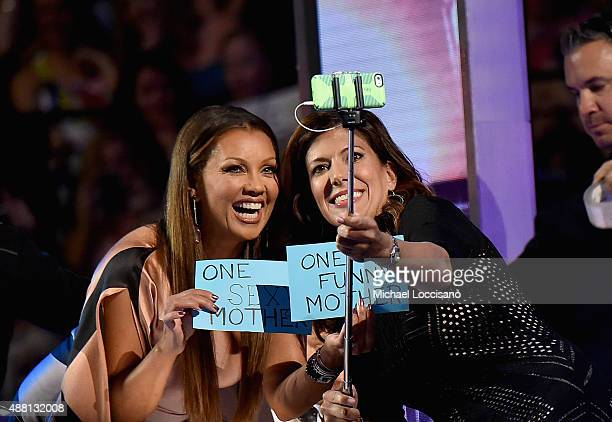 Vanessa Williams and Miss New Jersey 1995 Dena Blizzard attend the 2016 Miss America Competition at Boardwalk Hall Arena on September 13 2015 in...
