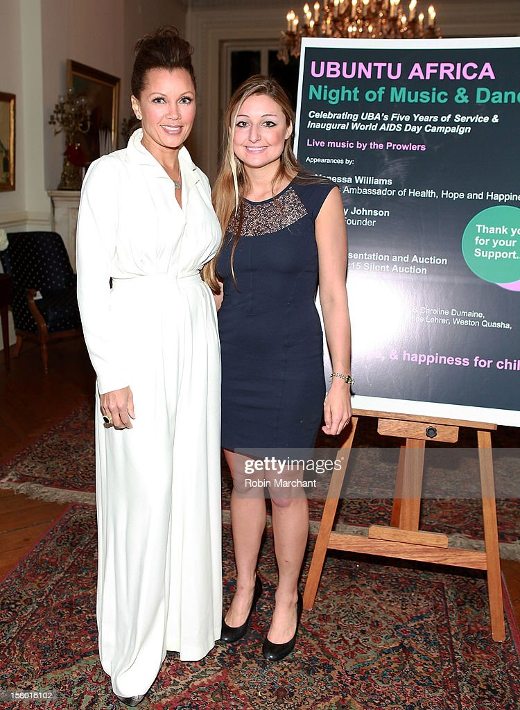 Vanessa Williams (L) and Whitney Johnson attend Ubuntu Africa Worlds AIDS Day Benefit at Salmagundi Arts Club on December 8, 2012 in New York City.