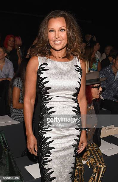 Vanessa Williams attends Carmen Marc Valvo Women's and Men's Collection S/S 2016 during New York Fashion Week The Shows at The Arc Skylight at...