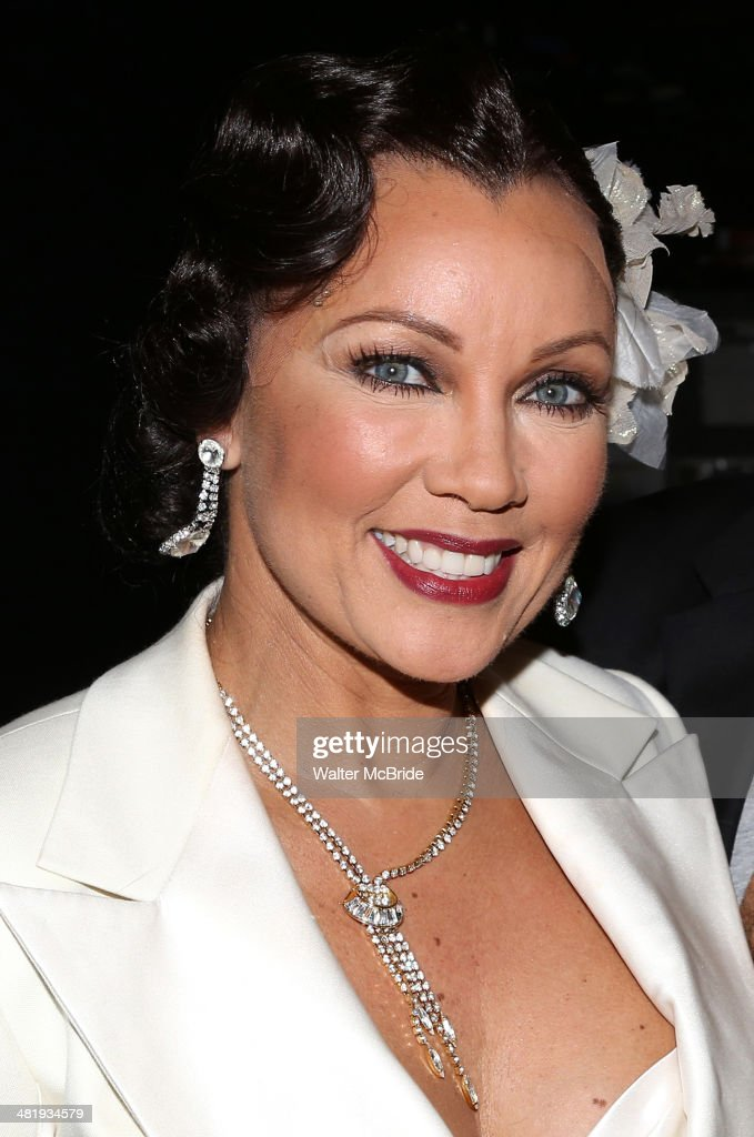 Vanessa Williams backstage after a performance of the musical 'After Midnight' at The Brooks Atkinson Theatre on April 1 2014 in New York City