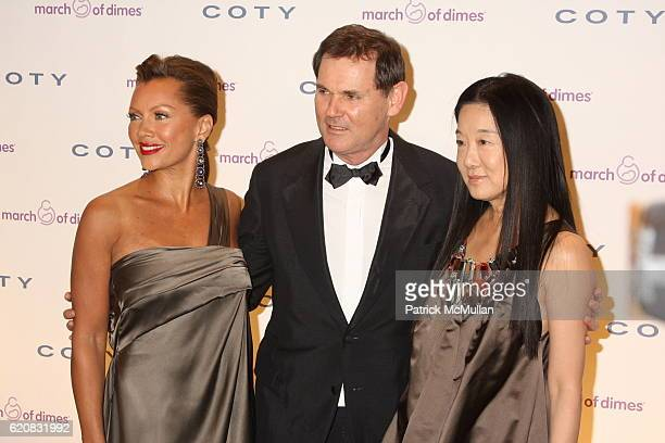 Vanessa Williams Bernd Beetz and Vera Wang attend March of Dimes 33rd Annual Beauty Ball at Cipriani 42nd Street on March 12 2008 in New York City