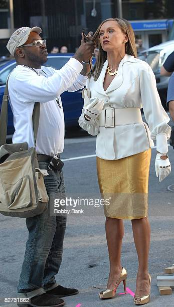 Vanessa Williams on location for 'Ugly Betty' on the streets of Tribeca on September 8 2008 in New York City