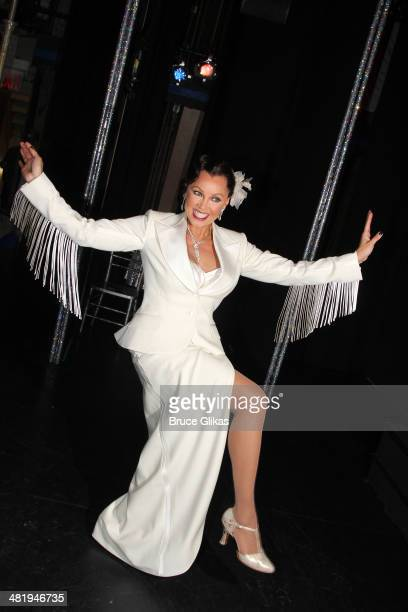 Vanessa Williams poses backstage at 'After Midnight' on Broadway at The Brooks Atkinson Theatre on April 1 2014 in New York City Actress Vanessa...