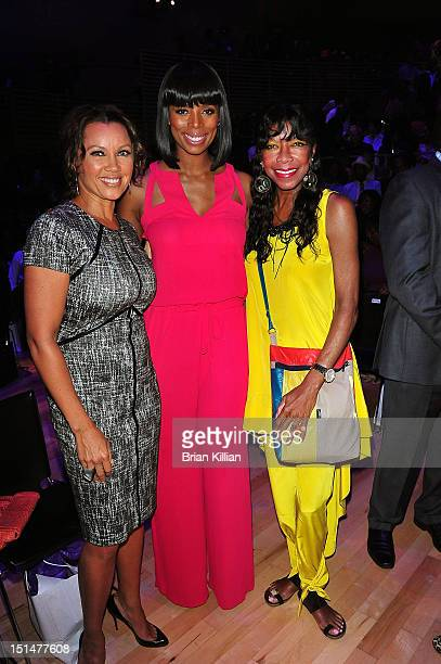 Vanessa Williams Tasha Smith and Natalie Cole attend the Harlem's Fashion Row 5th Anniversary show during Spring 2013 MercedesBenz Fashion Week at...