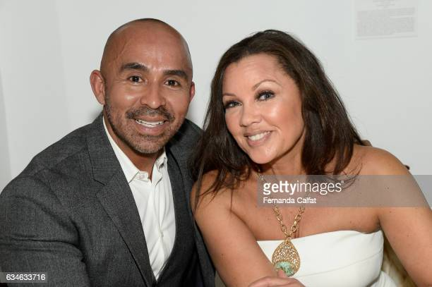 Vanessa Willians and Raul Penaranda attend the Raul Penaranda presentation during New York Fashion Week at The Society Of Ilustrators on February 10...