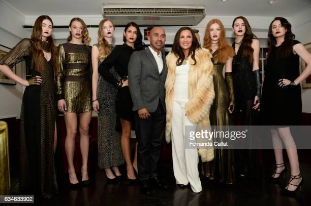 Vanessa WilliansRaul Penaranda and models attend the Raul Penaranda presentation during New York Fashion Week at The Society Of Ilustrators on...