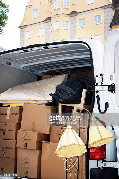 A vanful of furniture, Sweden.
