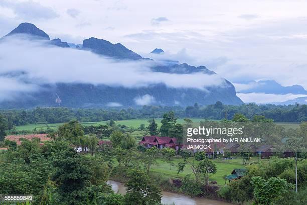 Vang Vieng in the morning, Laos