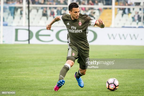 Vangioni Leonel during the Italian Serie A football match Pescara vs Milan on April 02 in Pescara Italy