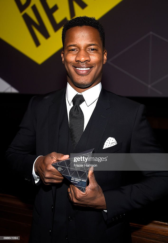 Vanguard Award recipient Nate Parker attends the Sundance Institute NIGHT BEFORE NEXT Benefit at The Theatre at The Ace Hotel on August 11 2016 in...
