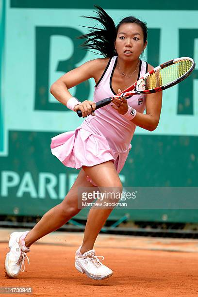 Vania King of USA in action during the women's singles round two match between Vania King of USA and Elena Baltacha of Great Britain on day five of...