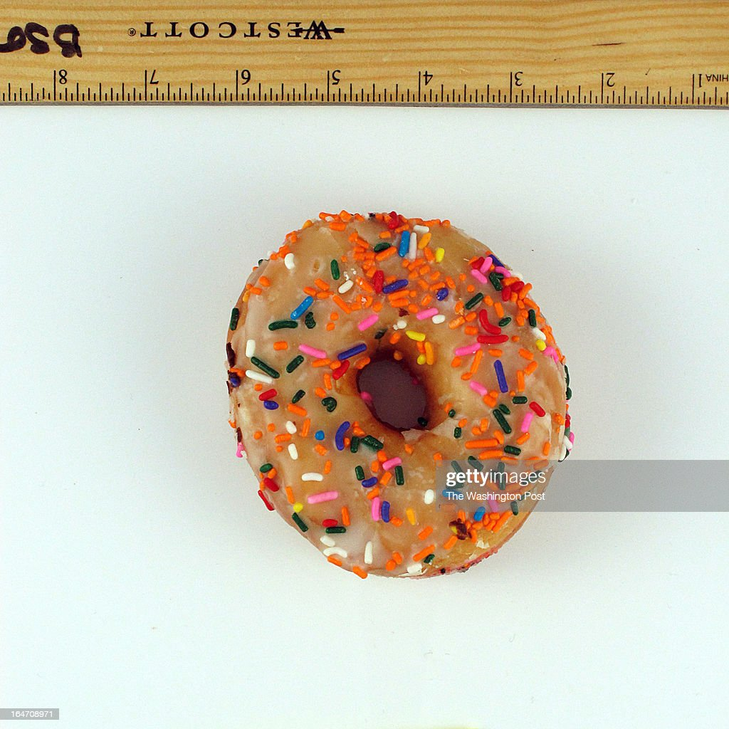 A vanilla frosted doughnut with sprinkles from Heller's Bakery on March 14, 2013 in Washington, DC.