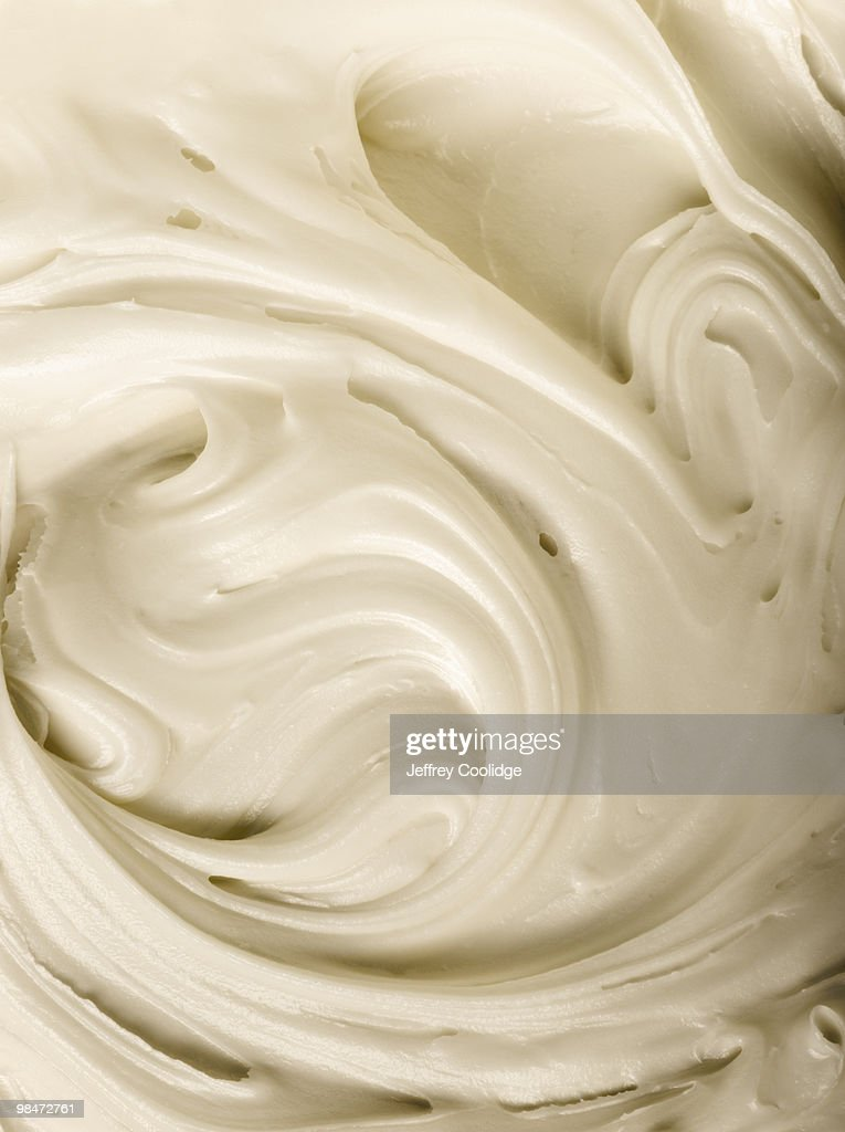 Vanilla Frosting, Close-Up : Stock Photo