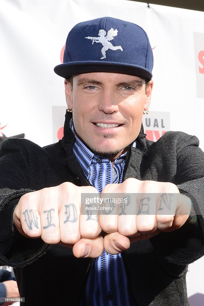 <a gi-track='captionPersonalityLinkClicked' href=/galleries/search?phrase=Vanilla+Ice&family=editorial&specificpeople=228351 ng-click='$event.stopPropagation()'>Vanilla Ice</a> arrives at the 3rd Annual Streamy Awards at The Hollywood Palladium on February 17, 2013 in Los Angeles, California.
