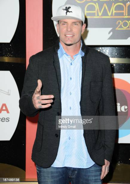 Vanilla Ice arrives at the Soul Train Awards 2013 at the Orleans Hotel Casino on November 8 2013 in Las Vegas Nevada