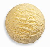 Vanilla ice cream, close-up