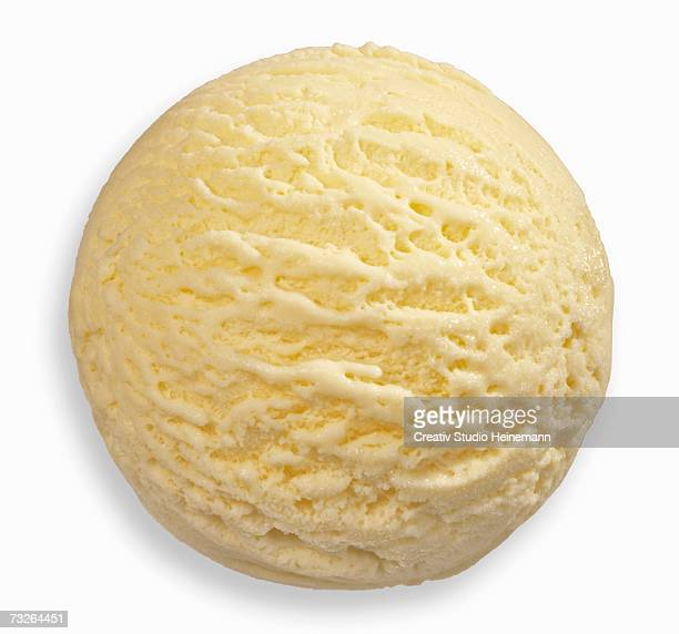 Vanilla ice cream, close-up