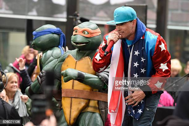 Vanilla Ice performs live on stage for NBC's 'Today' at Rockefeller Plaza on April 29 2016 in New York City