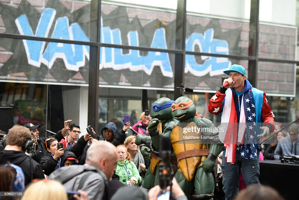 Vanilla Ice performs live on stage for NBC's 'Today' at Rockefeller Plaza on April 29, 2016 in New York City.
