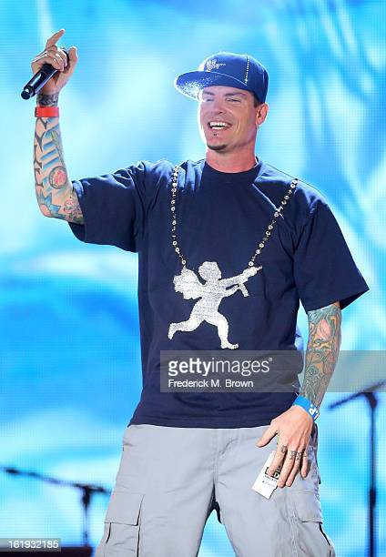 Vanilla Ice performs onstage at the 3rd Annual Streamy Awards at Hollywood Palladium on February 17 2013 in Hollywood California