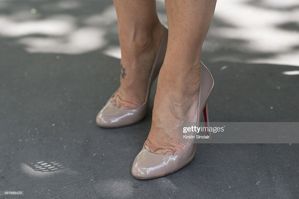 Vanina Sebaoum wearing Luis Vuitton shoes on day 1 of Paris Collections Men on June 25 2014 in Paris France