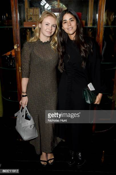Vanity Fair Accessories Director Daisy Shaw and Vanity Fair Fashion Market Editor Isabella Behrens attend A Night With Eli Halili on October 19 2017...