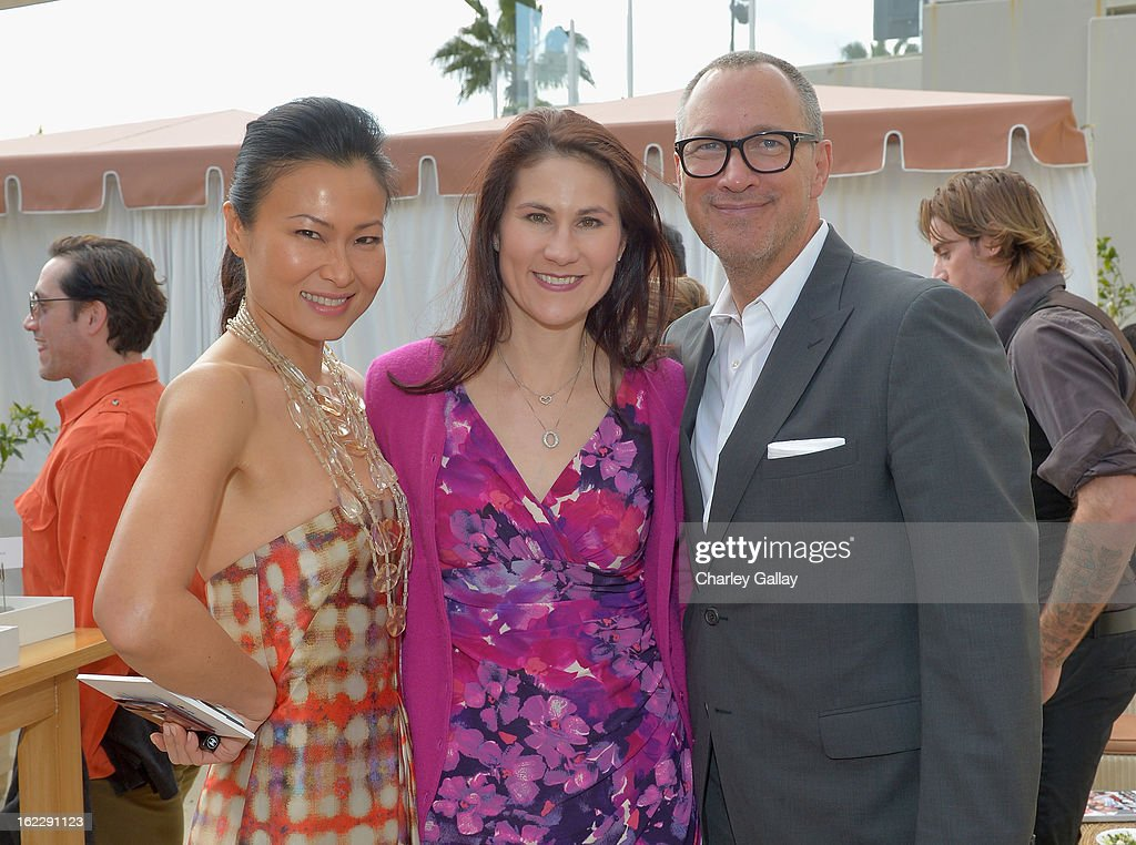 Vanity Fair Beauty Director SunHee Grinnell, Clarisonic's Anne Talley and Vanity Fair VP <a gi-track='captionPersonalityLinkClicked' href=/galleries/search?phrase=Edward+Menicheschi&family=editorial&specificpeople=4146425 ng-click='$event.stopPropagation()'>Edward Menicheschi</a> attend Vanity Fair, Lancome And Clarisonic Beauty Luncheon With Vanity Fair Beauty Director SunHee Grinnell on February 21, 2013 in Los Angeles, California.