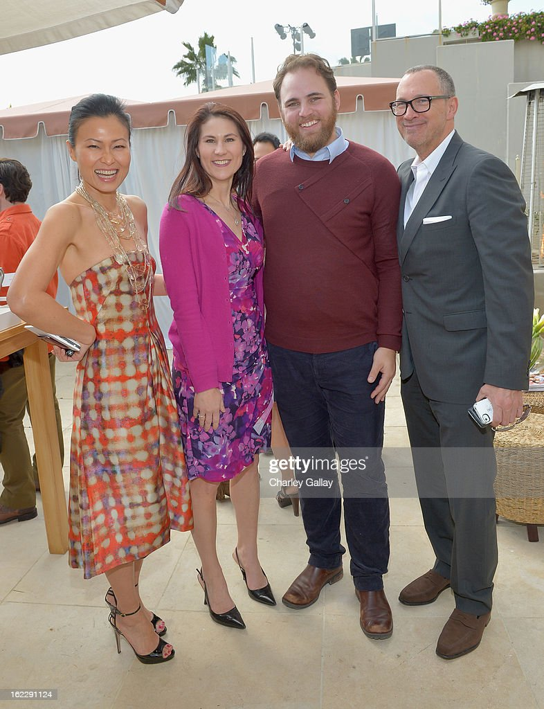 Vanity Fair Beauty Director SunHee Grinnell, Clarisonic's Anne Talley and Zachary Tolbert and Vanity Fair VP <a gi-track='captionPersonalityLinkClicked' href=/galleries/search?phrase=Edward+Menicheschi&family=editorial&specificpeople=4146425 ng-click='$event.stopPropagation()'>Edward Menicheschi</a> attend Vanity Fair, Lancome And Clarisonic Beauty Luncheon With Vanity Fair Beauty Director SunHee Grinnell on February 21, 2013 in Los Angeles, California.