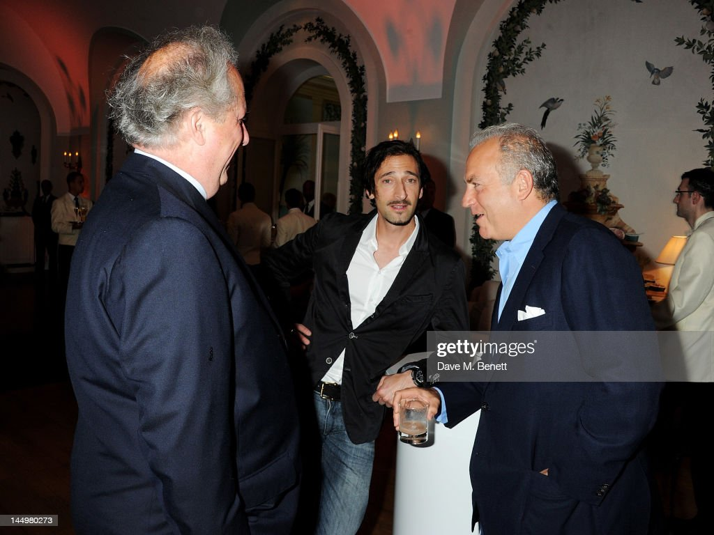 Vanity Fair editor Graydon Carter, actor Adrien Brody and Charles Finch attend the IWC and Finch's Quarterly Review Annual Filmmakers Dinner at Hotel Du Cap-Eden Roc on May 21, 2012 in Antibes, France.