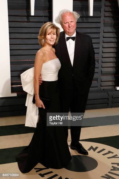 Vanity Fair editor Graydon Carter and Anna Scott attend 2017 Vanity Fair Oscar Party Hosted By Graydon Carter at Wallis Annenberg Center for the...