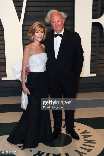 Vanity Fair editor Graydon Carter and Anna Scott attend the 2017 Vanity Fair Oscar Party hosted by Graydon Carter at the Wallis Annenberg Center for...